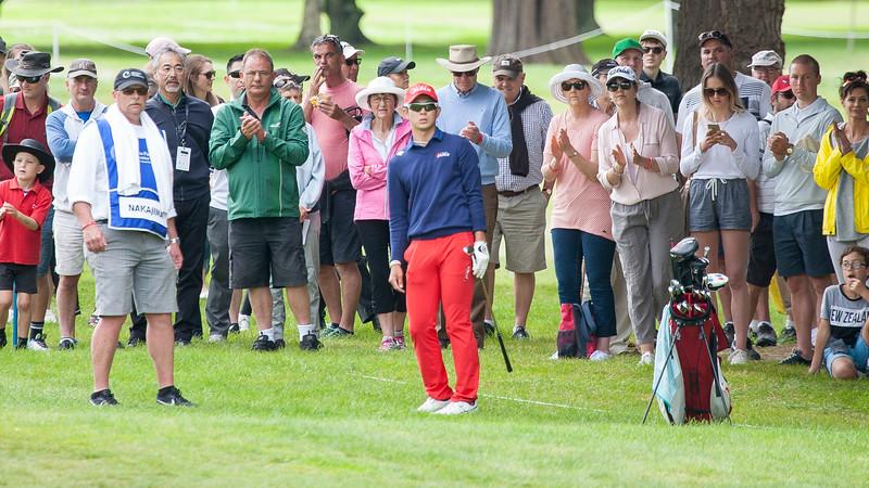 Keita Nakajima from Japan on the final day of the Asia-Pacific Amateur Championship tournament 2017 held at Royal Wellington Golf Club, in Heretaunga, Upper Hutt, New Zealand from 26 - 29 October 2017. Copyright John Mathews 2017.   www.megasportmedia.co.nz