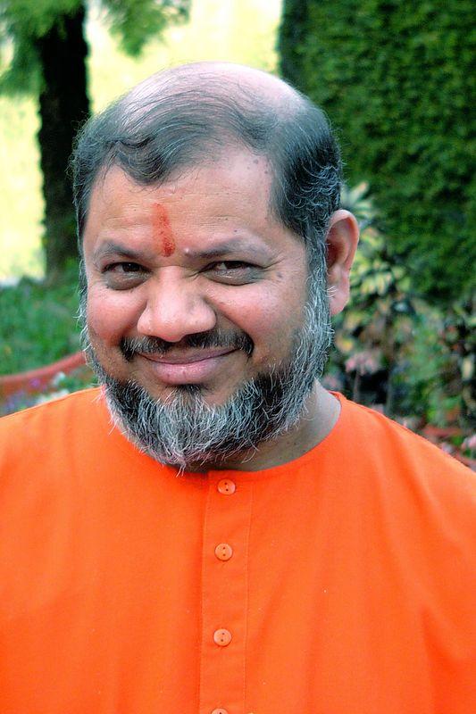 Swami Tejomayanandaji at Tapovan Ashram, Siddhbari, HP, India. Chinmaya Mission.