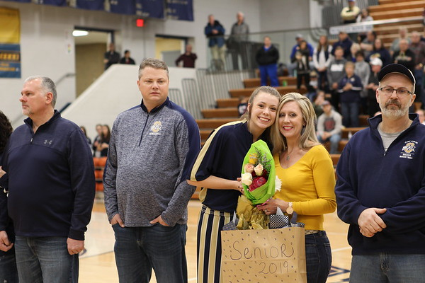 Oak Hil Girl's Basketball Senior Night vs Alex  1-17-18