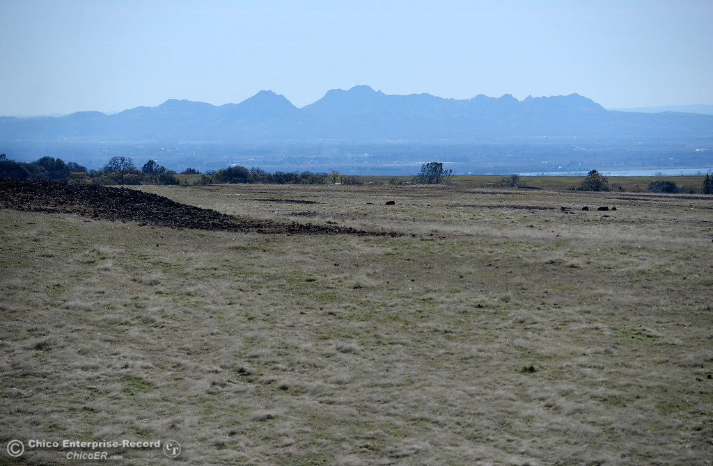 . The Sutter Buttes are seen from Table Mountain Monday March 5, 2018. Hikers 16-years or older are now required to have a Lands Pass or valid hunting or fishing license. (Bill Husa -- Enterprise-Record)