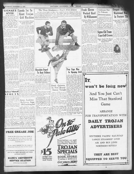 Daily Trojan, Vol. 24, No. 25, October 13, 1932