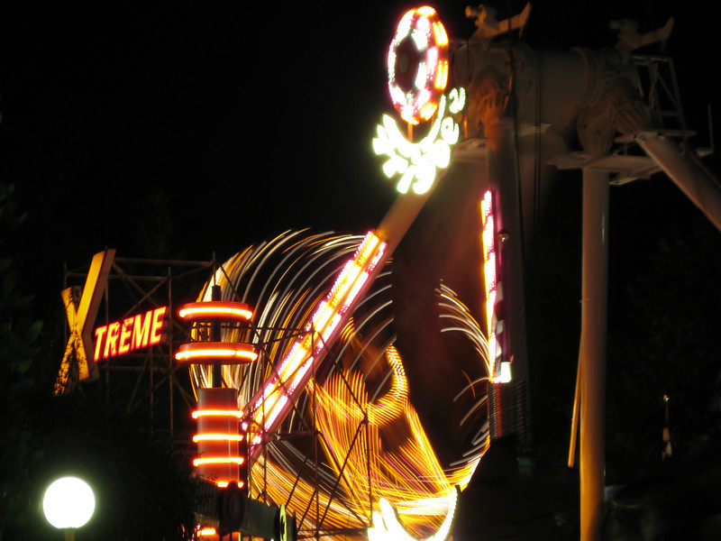 Xtreme Frisbee at night, in motion.