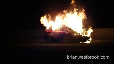Car Fire -- I-5 SB @ Keubler Blvd - 21 Sept 2012