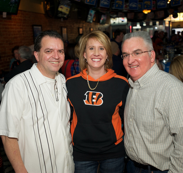 Rolf Obrecht, Shannon Sullivan and Doc Sheridan at Jerzees for the Bengals game Saturday