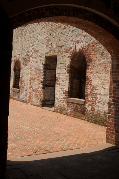 Fort Macon from a Cell