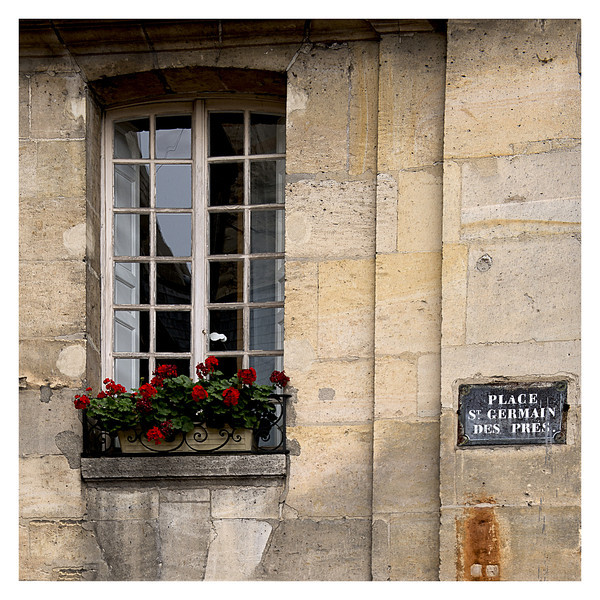 Window near the oldest church in Paris - St-Germaine-des-Pres.  It originated in the year 562.