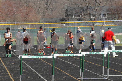 4/21/07 Groves High School Invitational Track & Field Meet - Selected Hurdles Competition