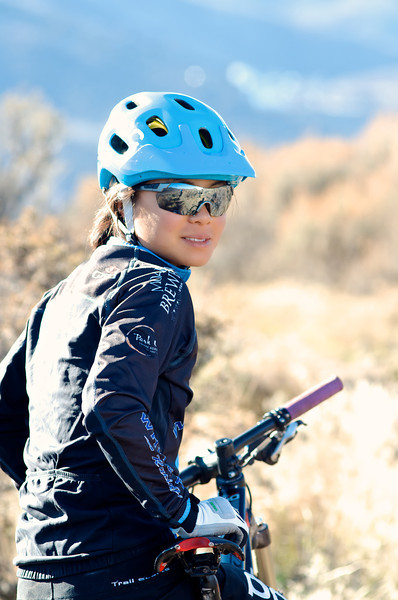 Evelyn Dong, Taring in Up in Round Valley, Park City, Utah