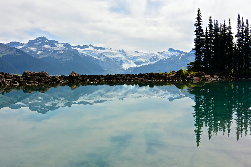 reflections in Garibaldi Lake