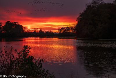 Sunset Camden Mill Pond