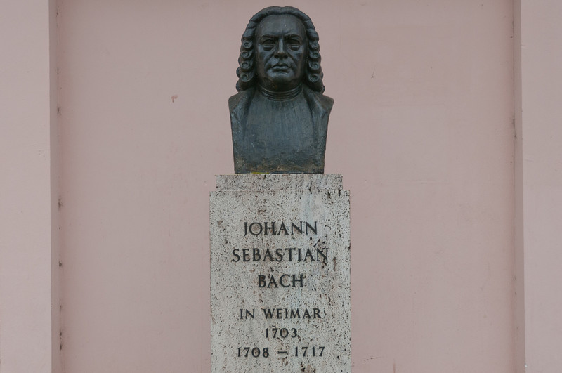 Johann Sebastian Bach memorial in Weimar, Germany