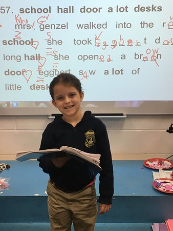 Working hard  during writing and spelling