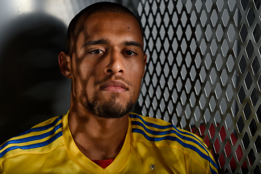 . COMMERCE CITY, CO - FEBRUARY 11: Javan Torre poses for a portrait during Colorado Rapids media day on Thursday, February 11, 2016. (Photo by AAron Ontiveroz/The Denver Post)
