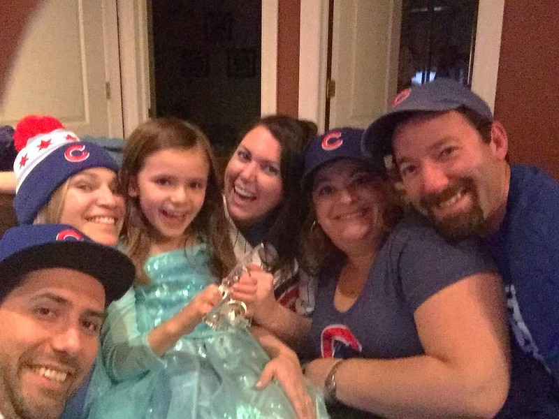 Let's go CUBS! #GoCubGo thanks for coming to watch the first World Series game in Chicago in 71 years friends!!