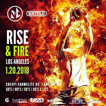 WR's, RB's, DB's and LB's [Rise and Fire Los Angeles 2018]