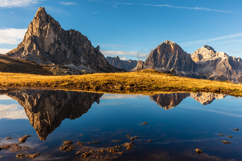 The reflection at passo Giau