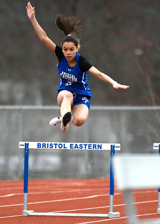 4/17/2018 Mike Orazzi | Staff Bristol Eastern's Jennica Valdes at Bristol Eastern Tuesday.