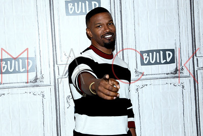 """NEW YORK, NY - MAY 23:  Build Presents Jamie Foxx discussing his new game show """"Beat Shazam"""" at Build Studio."""