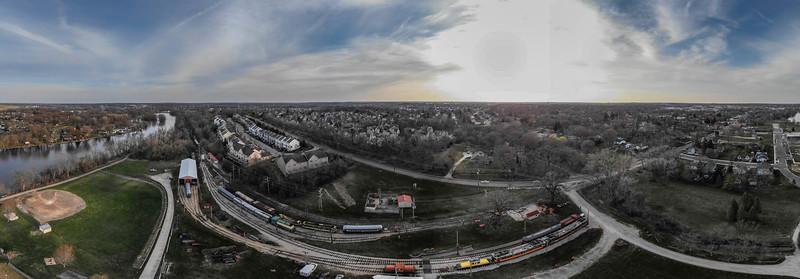 Fox River/Trolley Museum Drone Flights