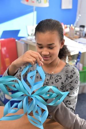 Snowflakes Bring Warmth to Patients at The Children's Inn at NIH
