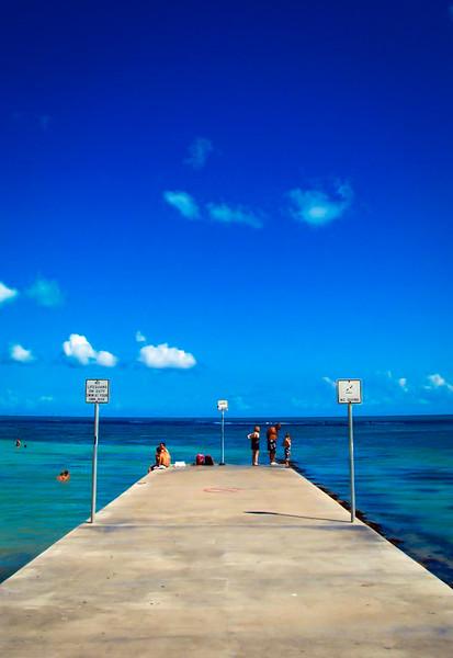 Key West pier sky