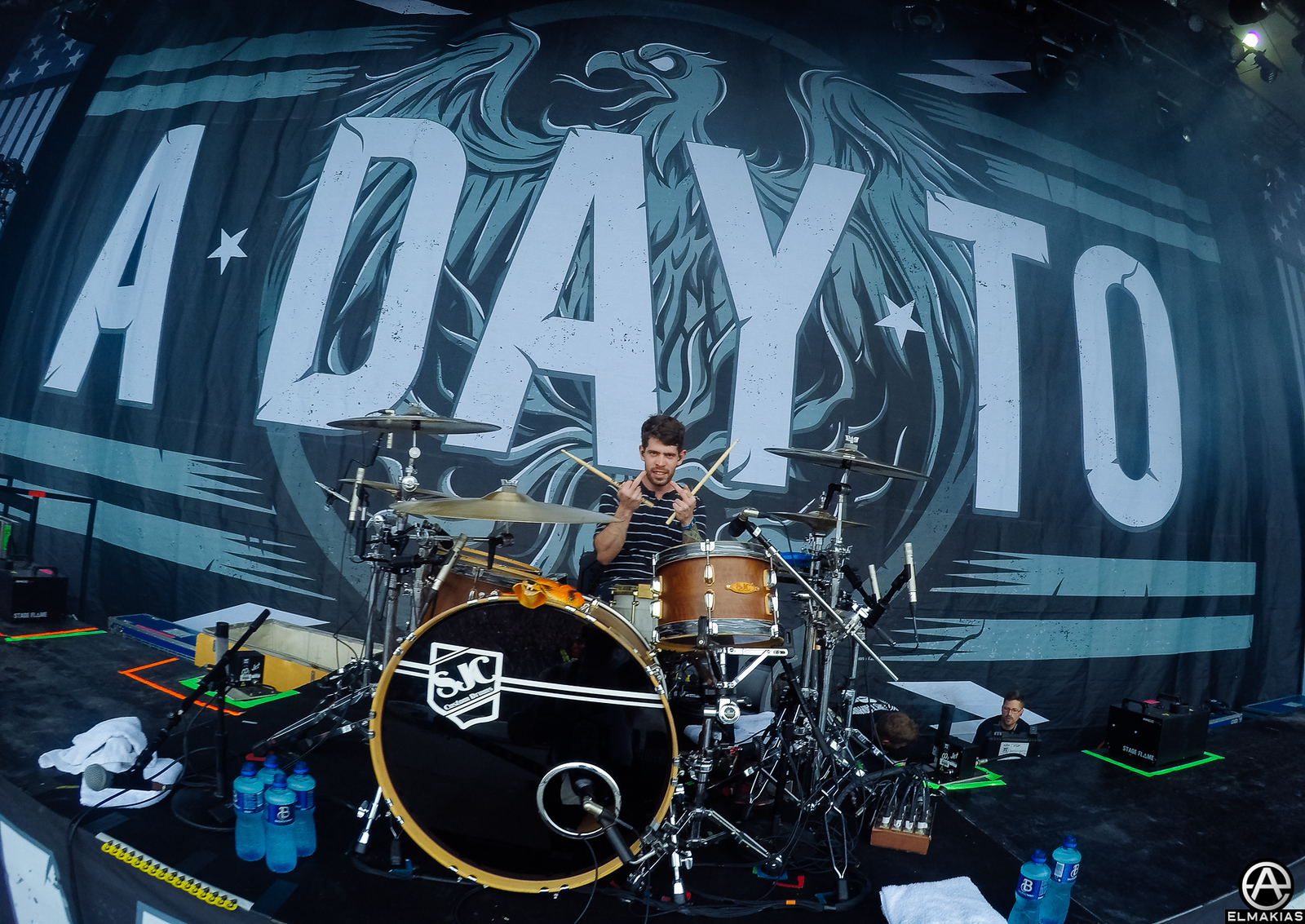 Alex Shelnutt of A Day To Remember live at Download Festival in Leicestershire, England