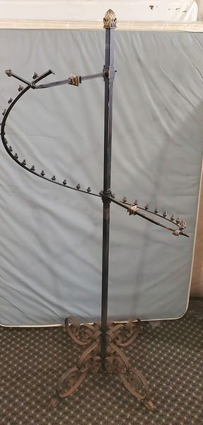Cast Iron Round Top Clothing Rack