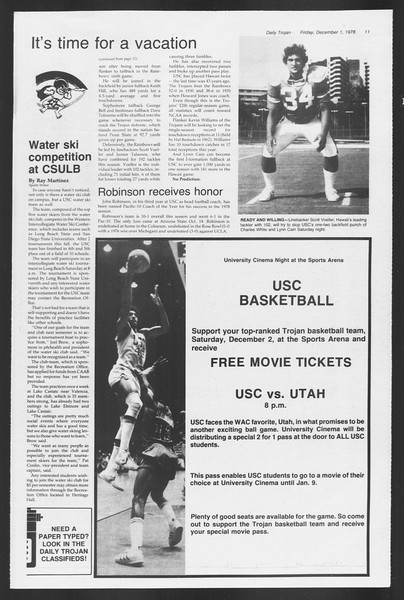 Daily Trojan, Vol. 75, No. 46, December 01, 1978