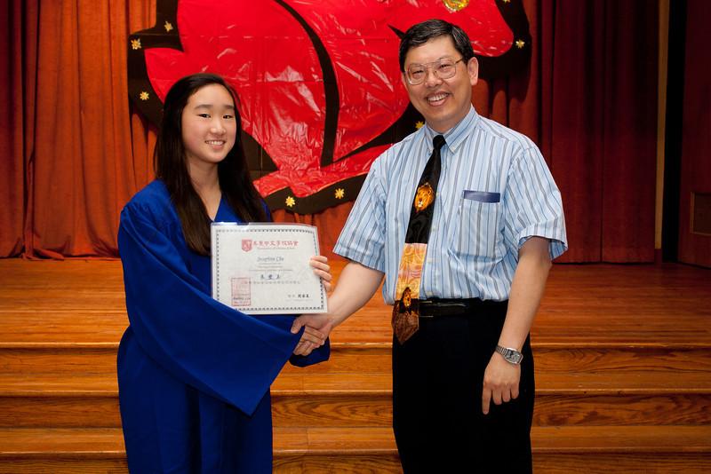 朱豐玉榮獲美東中文學校協會海華獎學金 Josephine Chu received Hai-Hwa Scholarship from Association of Chinese Schools  Chinese School of Delaware 2011 Commencement Ceremony, 6/5/2011