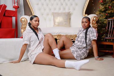 Sychiya and Jaylynn - BFFs Christmas 2020