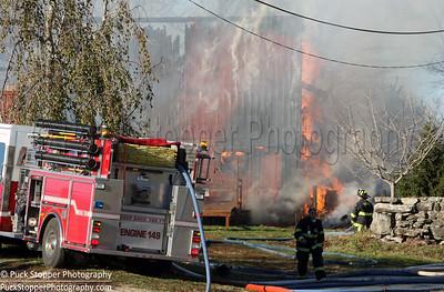3 Alarm Barn Fire - 40 Hardscrabble Rd, Croton Falls, NY - 11/13/16