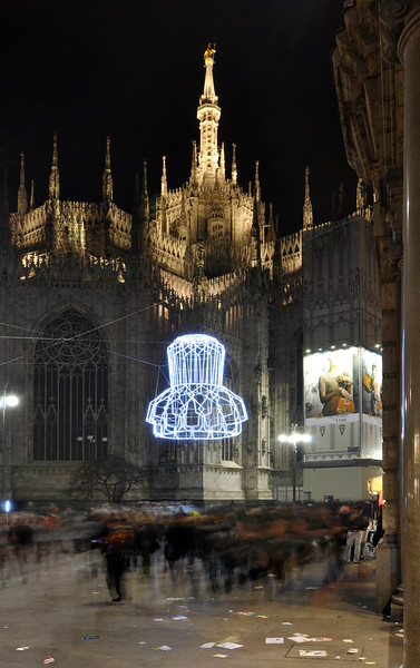 Corso Vittorio Emanuele II - Milan, Italy - December 6, 2009
