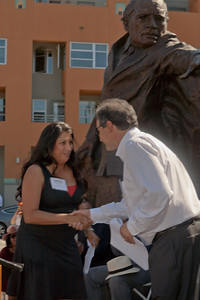 Champions for Humanity, Sculpture by Mario Chiodo, unveiling Ceremony, Oakland CA