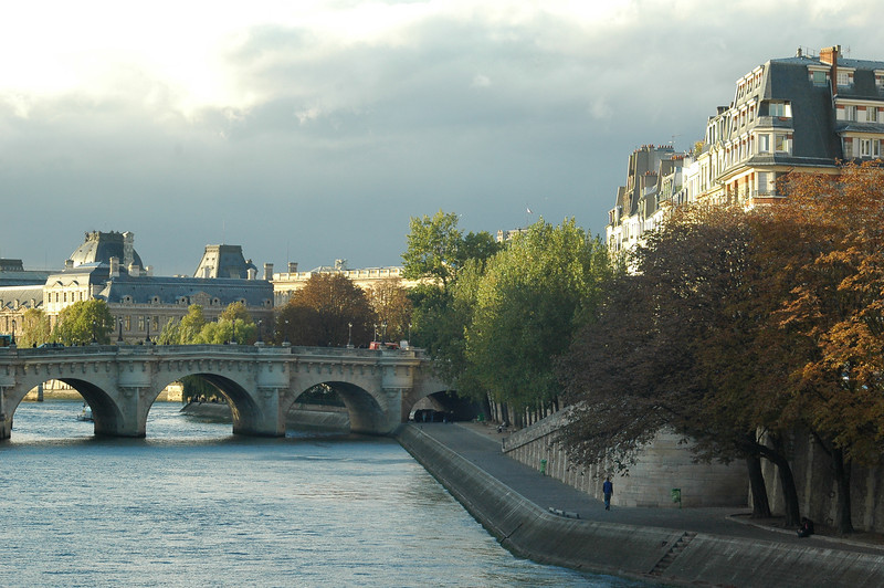 The Right Bank off the Seine River in Paris