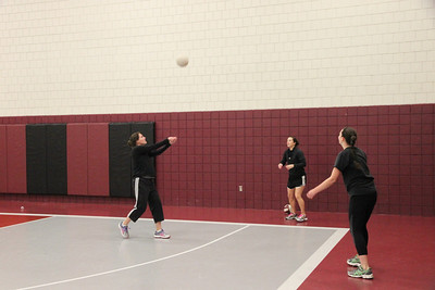 Senior Girls vs. Women Faculty Volleyball