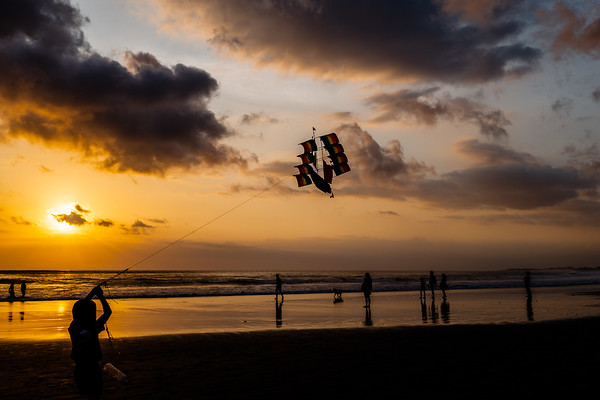 Indonesia, Bali Beach Sunset