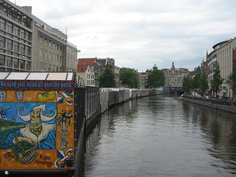 The Bloemenmarkt, supposedly the only floating flower market in the world