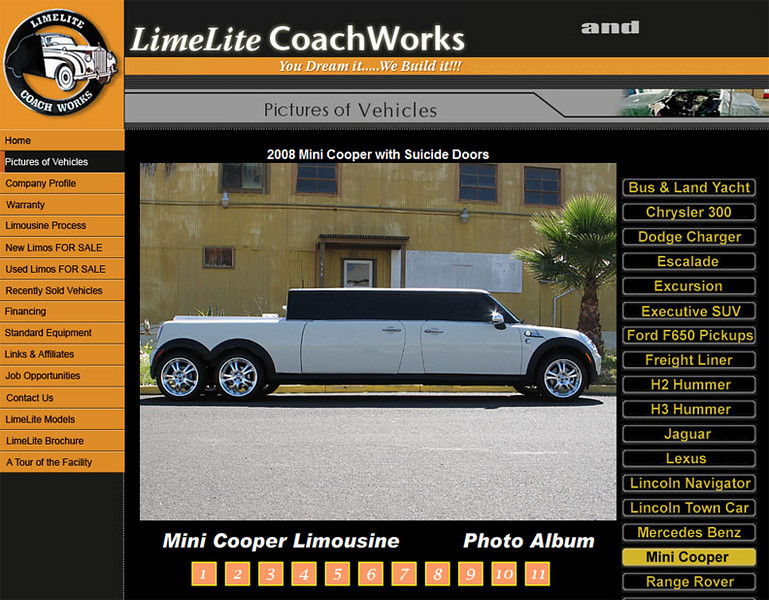 Borrowed from the Lime Lite Coach Works web site (limelitelimo.com).