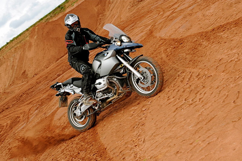 "ukGSer Mark G ""Earthmover"" checks out a quarry near Kelsall, Cheshire - R1200GS playing in the dirt!