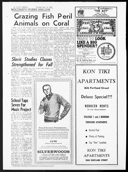 Daily Trojan, Vol. 57, No. 1, September 14, 1965
