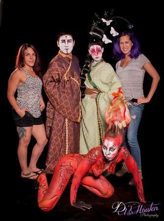 Geisha and Dragon Bodypaint workshop