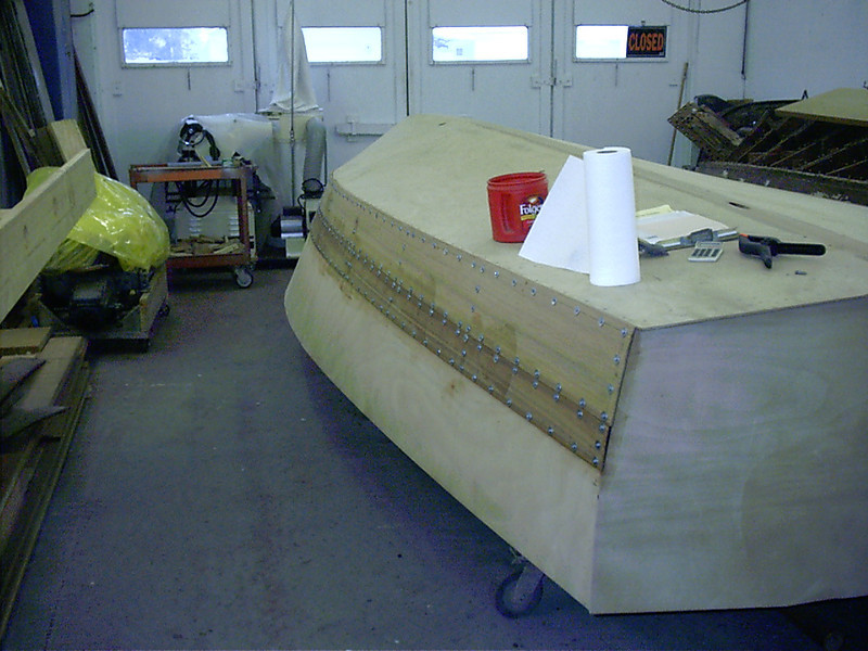Rear view of starboard planks.