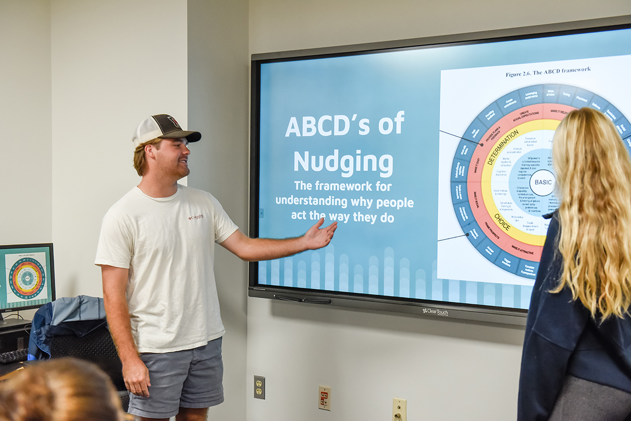 Image for Students use behavioral economics to 'nudge' changes