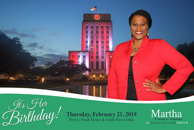 February 21, 2019 - Birthday Celebration for City Council Woman Martha Castex-Tatum