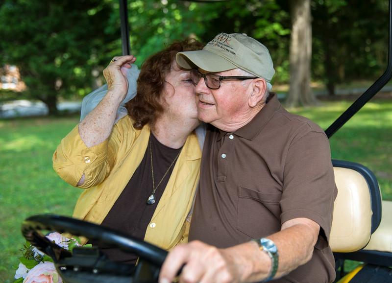 Mam Kissing Badge on Golf Cart.jpg