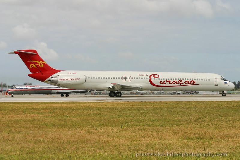 PJ-SEG. McDonnell Douglas MD-82. Dutch Caribbean Airlines. Miami. 030304.