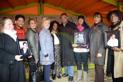Hillary Clinton  & Rev. Jackson Visit Kids Off The Block Memorial