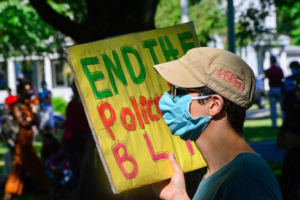 Silent Vigil in Brattleboro - 061220