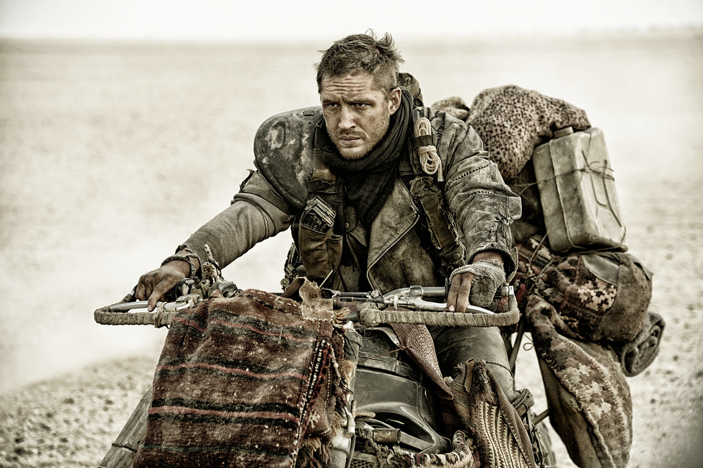 """. This photo released by Warner Bros. Pictures shows Tom Hardy in a scene from, \""""Mad Max:Fury Road.\"""" The film was nominated for an Oscar for best picture on Thursday, Jan. 14, 2016. The 88th annual Academy Awards will take place on Sunday, Feb. 28, at the Dolby Theatre in Los Angeles.  (Jasin Boland/Warner Bros. Pictures via AP)"""