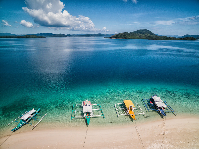 Banca boats in the Philippines